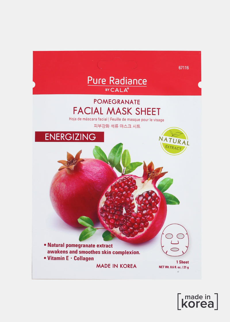Pure Radiance Sheet Mask- Pomegrante Facial