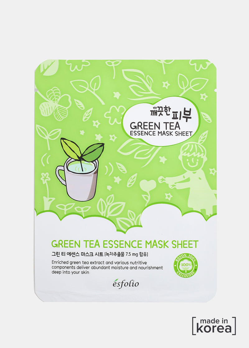 ESFOLIO Pure Skin Essence Mask- Green Tea