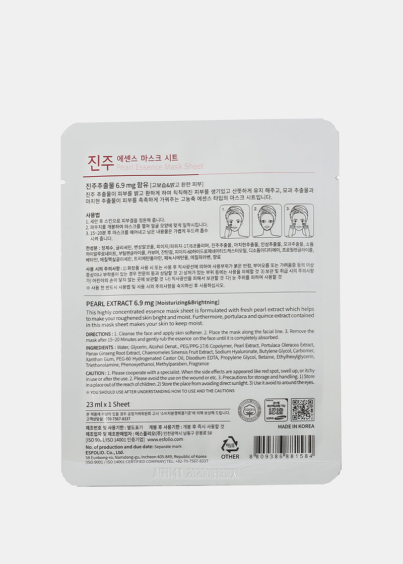 ESFOLIO Essence Mask Sheet - Pearl