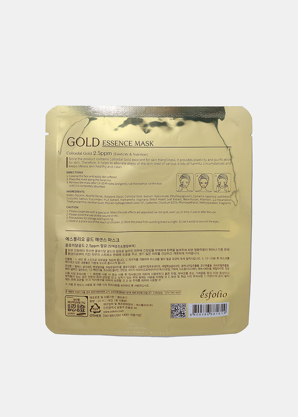 Esfolio Essence Sheet Mask- Gold