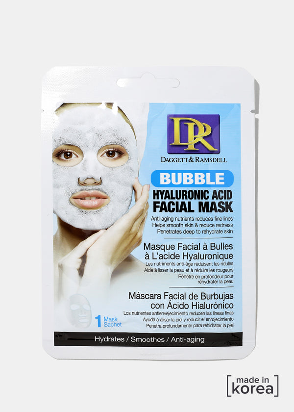 D&R Bubble Facial Mask- Hyaluronic Acid