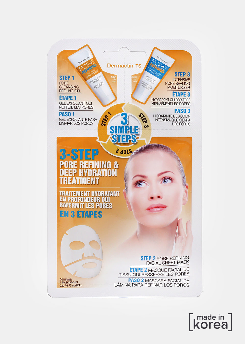 3 Step Pore Refining Sheet Mask Set