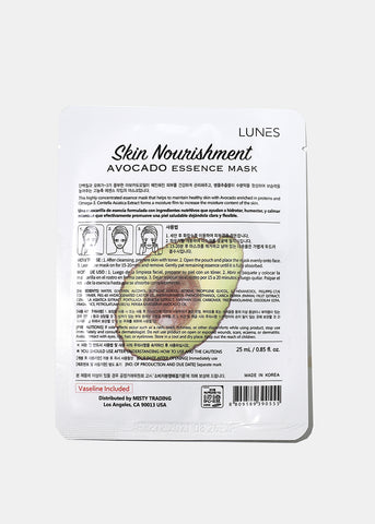 Lunes Essence Sheet Mask- Avocado