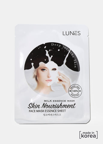 Lunes Essence Sheet Mask- Milk