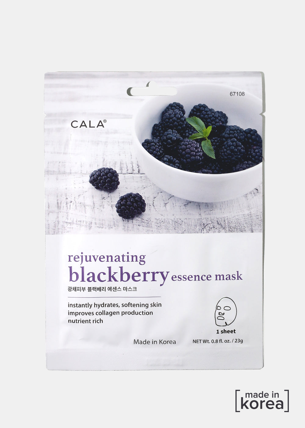 Cala Rejuvenating Blackberry Sheet Mask