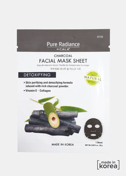 Pure Radiance Sheet Mask- Charcoal