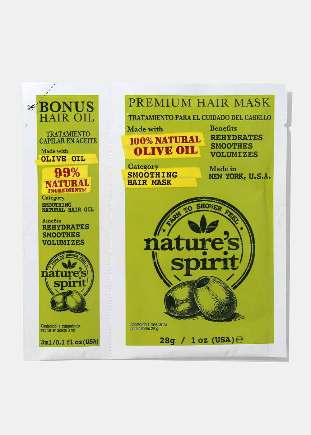 Nature's Spirit Hair Oil & Mask- Olive Oil