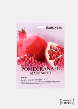 Baroness Sheet Mask- Pomegranate