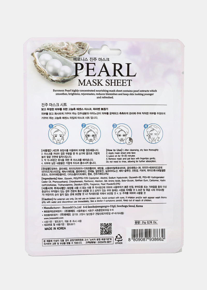 Baroness Sheet Mask- Pearl