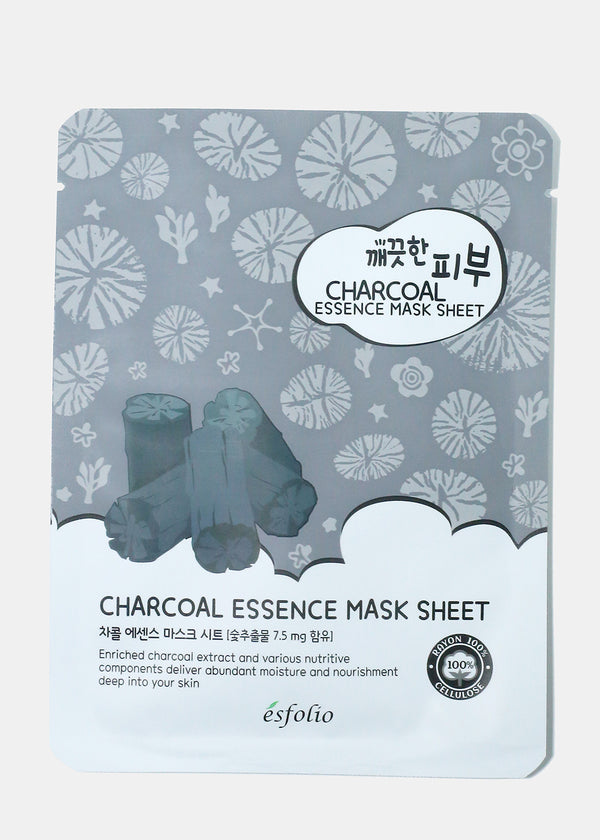 ESFOLIO Essence Mask Sheet - Charcoal