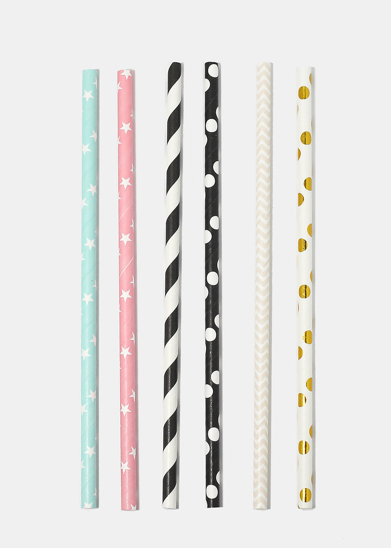Miss A Party Paper Straws