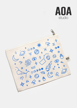 AOA Canvas Pouch - Blue Galaxy
