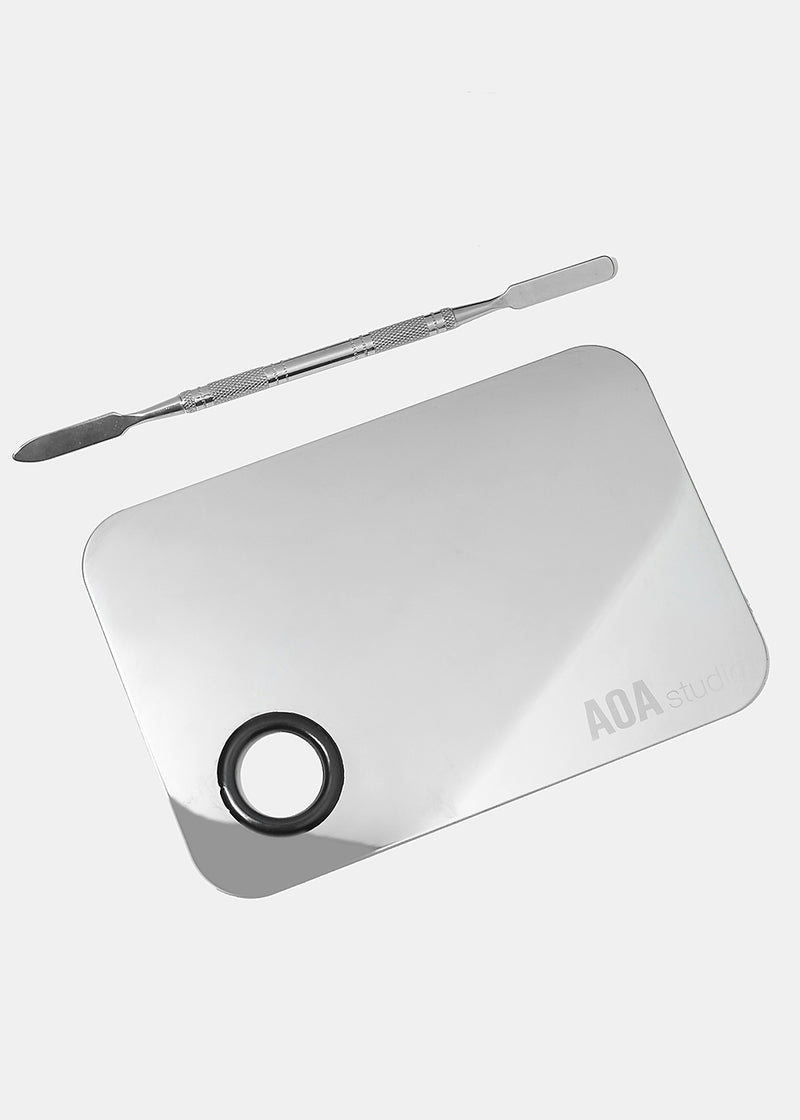 A+ Stainless Steel Mixing Palette and Spatula