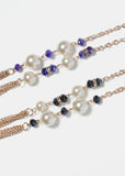 Layered Chain Pearl & Bead Necklace