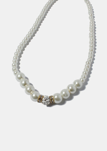 Glitter Ball Pearl Necklace