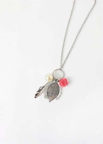 Rose Leaf Charm Necklace