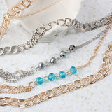 Casual Beaded Chain Necklace