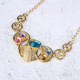 Multi Circle Statement Necklace
