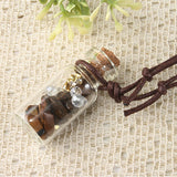 Rocks Message in a Bottle Necklace