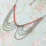 Silver Drape Chain Necklace