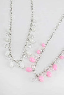 Gorgeous Lucite Beaded Necklace