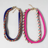 Multi Color Double Rope Necklace
