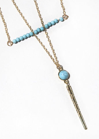 Bead Bar Chain Necklace