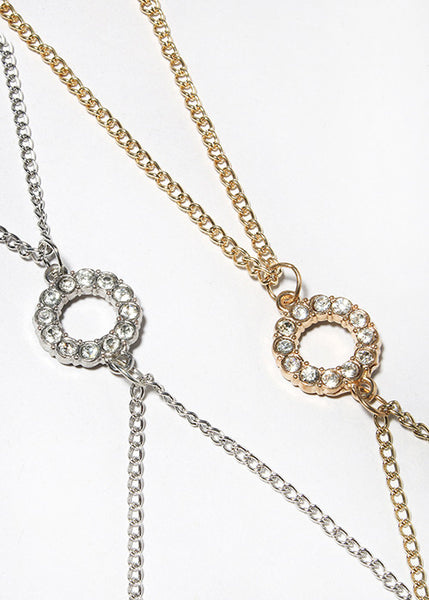Rhinestone Circle Body Chain