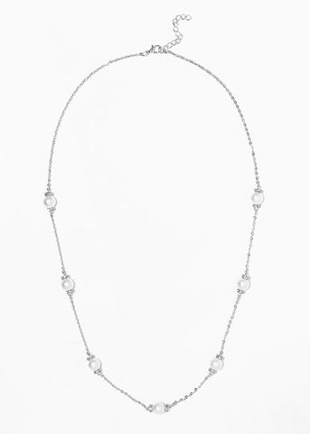 Textured Pearl Chain Necklace