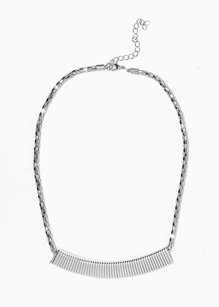 Sleek Bar Collar Necklace