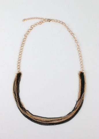 Layered Colored Chain Necklace