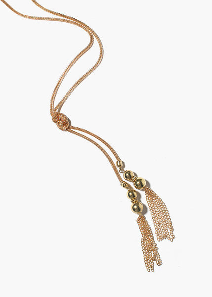 Tassel Mesh Chain Necklace
