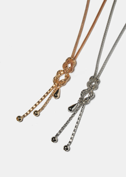 Knotted Mesh Chain Necklace