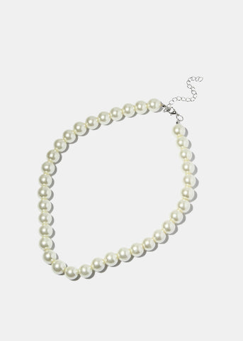 Chunky White Pearl Necklace
