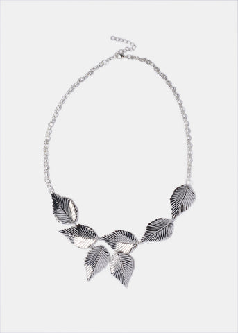 Metal Leaf Necklace