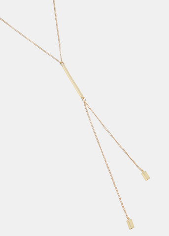 Linear Bar Chain Necklace