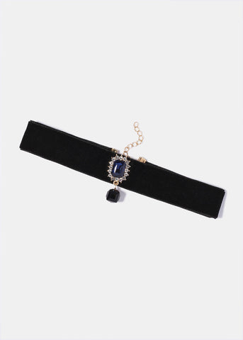 Rectangle Gemstone Choker