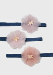 Thin Denim Flower Choker