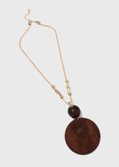 Large Wooden Disc Necklace