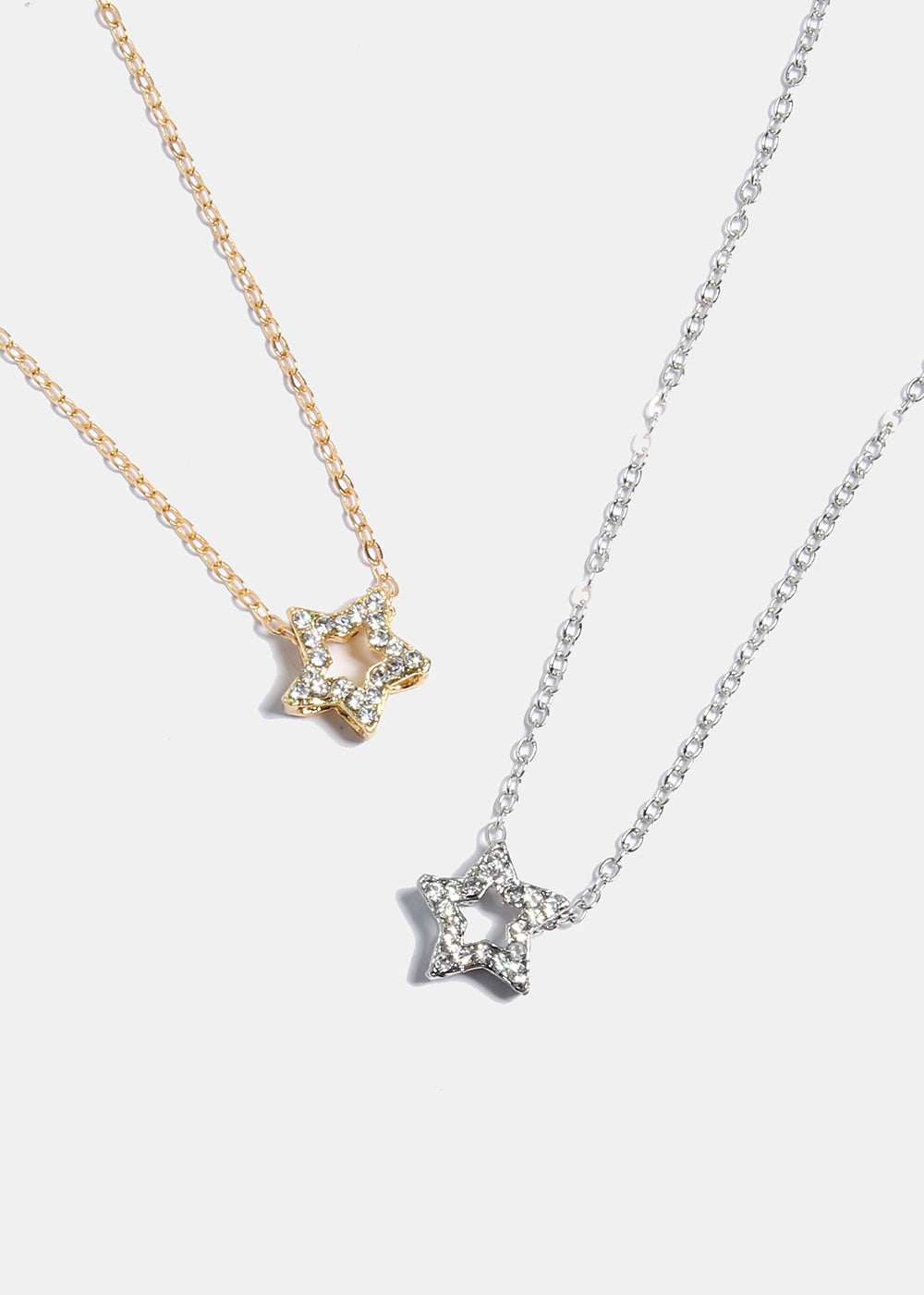 point silver star aldia cz products necklace