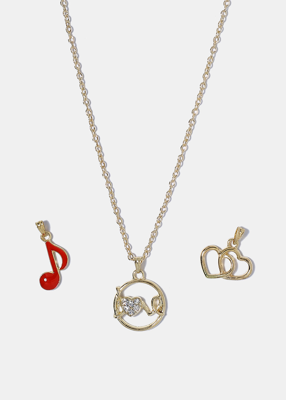 Love Charm Necklace & Earring Set