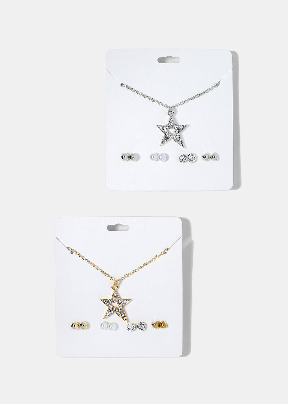 Star Pendant Necklace & Earring Set