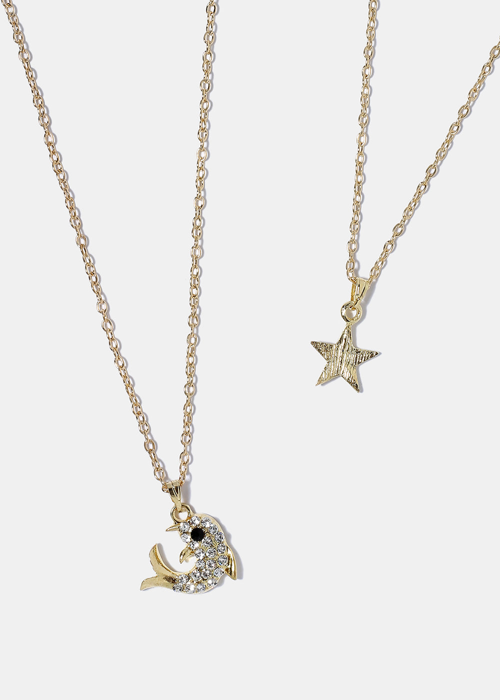 Fish & Star Necklace