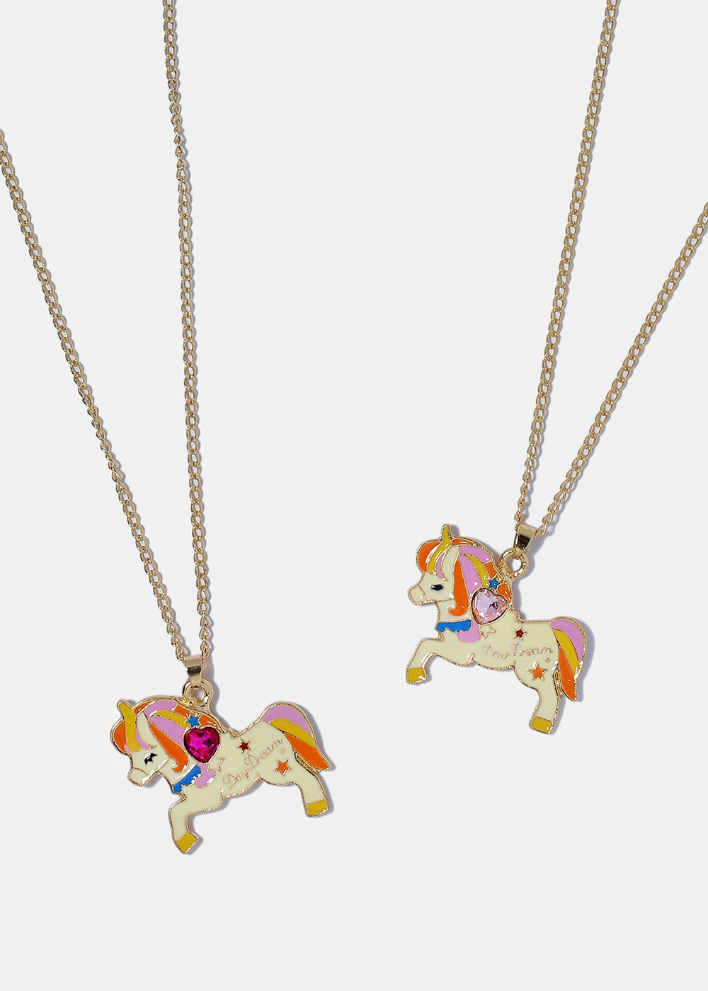geometric products unicorn necklace untitled awefind