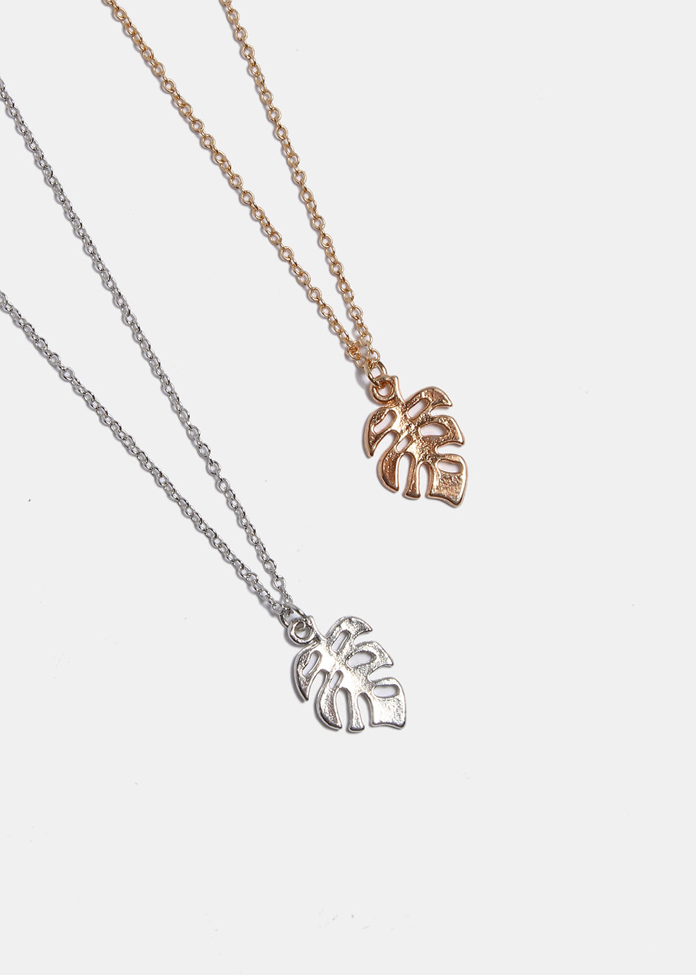 Monstera Leaf Chain Necklace