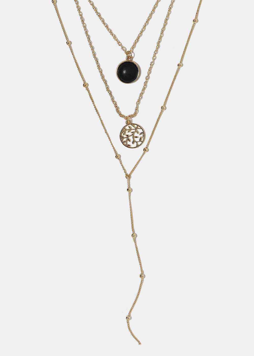 52b95951dc86 Boho Stone Layered Chain Necklace – Shop Miss A
