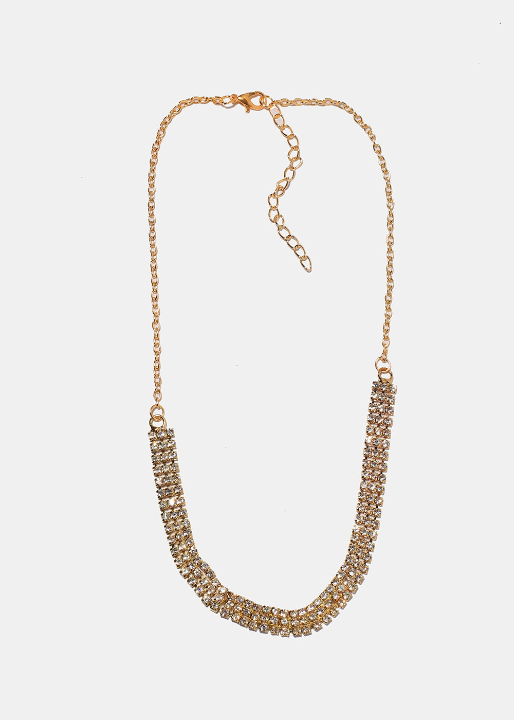 Stacked Rhinestone Necklace