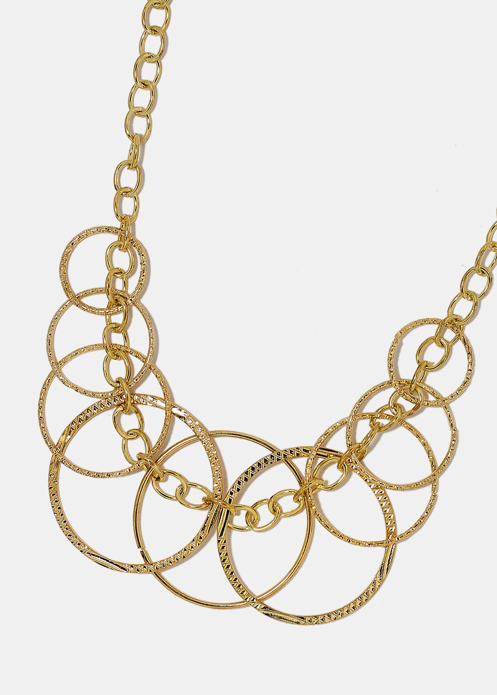 Linked Circle Chain Necklace