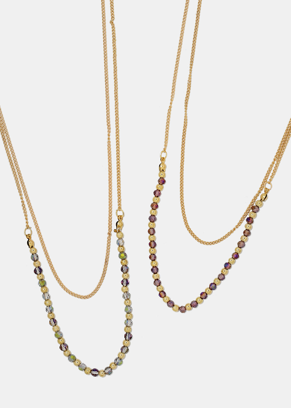 Beaded Double Chain Necklace