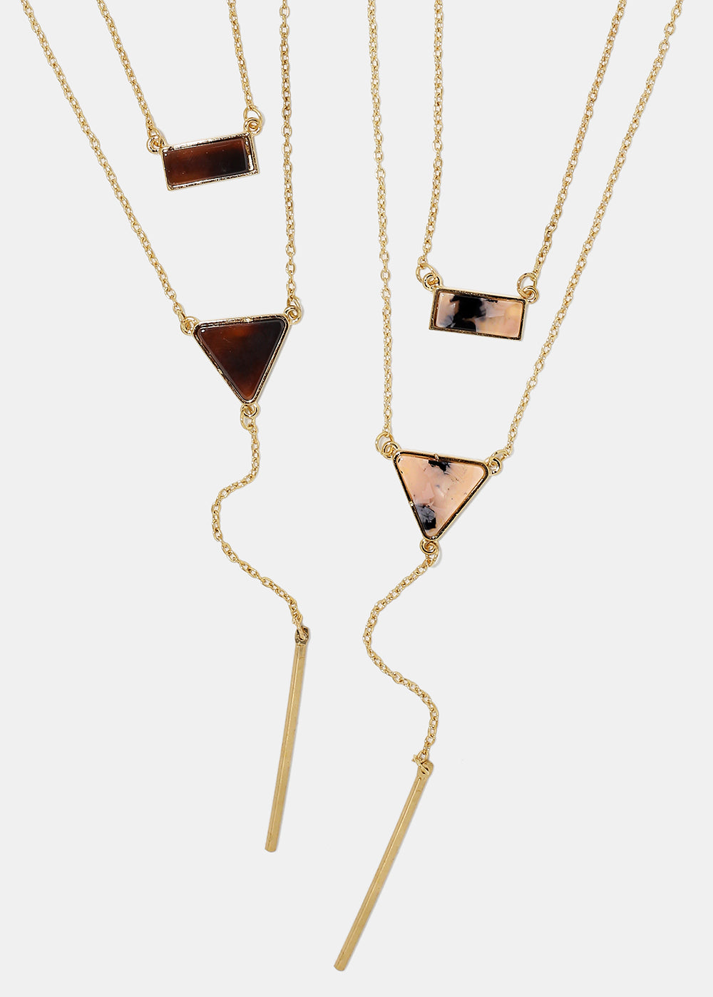 layered triangle bar necklace shop miss a
